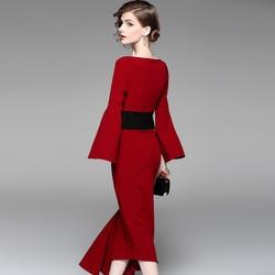 Новое асимметричное платье с подтяжкой талии, красное платье средней длины и платье для банкета, 2019