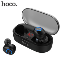 HOCO Mini Tws Bluetooth 5.0 Earphone 3D Stereo Invisible True Wireless Headphones Bass Sound Sport Headset with charge box