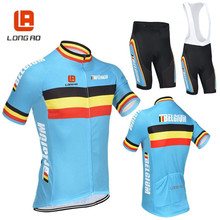 LONG AO Ropa Ciclismo Belgium Cycling Jersey shorts sleeves cycling tops road bike suit comfortable bicicleta wear