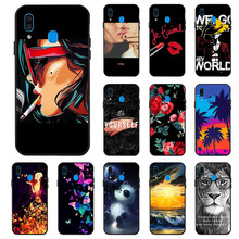 Ojeleye Fashion Black Silicon Case For Samsung Galaxy A30 Cases Anti-knock Phone Cover A20 Covers