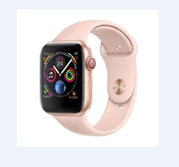 Passomètre bluetooth IWO 8 fréquence cardiaque chargeur sans fil montre intelligente 44 MM série 4 pour Iphone 6 7 8 x téléphone android xiaomi