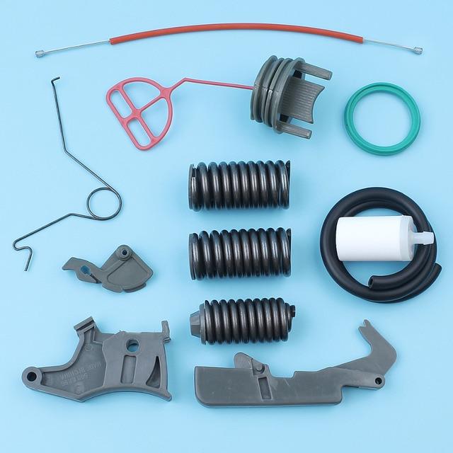 Throttle Trigger Cable Spring Support AV Buffer Spring Kit For Husqvarna 362 365 371 372 Chainsaw Fuel Filter Line Cap