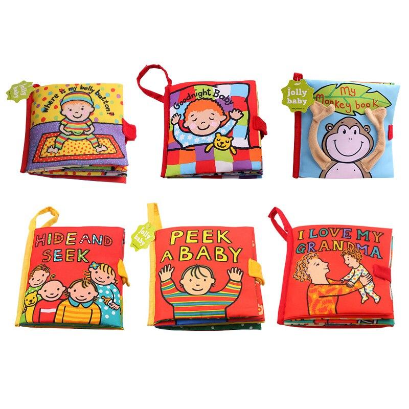 6 pièces/ensemble bébé hochet jouets livres en tissu nouveau-né infantile enfants développement précoce apprentissage éducation activité livres pour les tout-petits