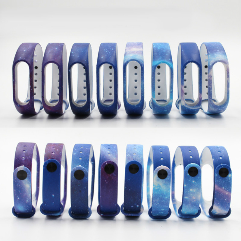 New Starry Pattern Bracelet Strap For Xiaomi Mi Band 2 Pulseira Replace Band For Mi Band 2 Wristband Silicone Strap Belt