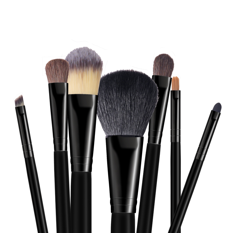 Black Makeup brushes kabuki cosmetic beauty tools powder face brushes (4)