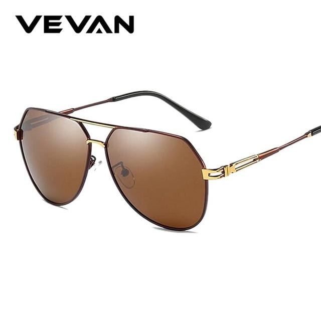 f1a17219da3a Polarized Coating Men Lens Vevan Sunglasses Brown Mirror Uv400 Men's  UcEwSqc7