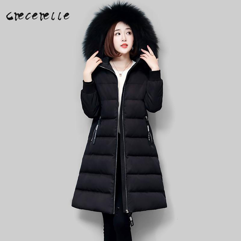 Plus Size Women 2018 Thick Warm Winter Clothing New Cotton Coat Long Coat Cottom Female Winter Big Size Warm Suit D559