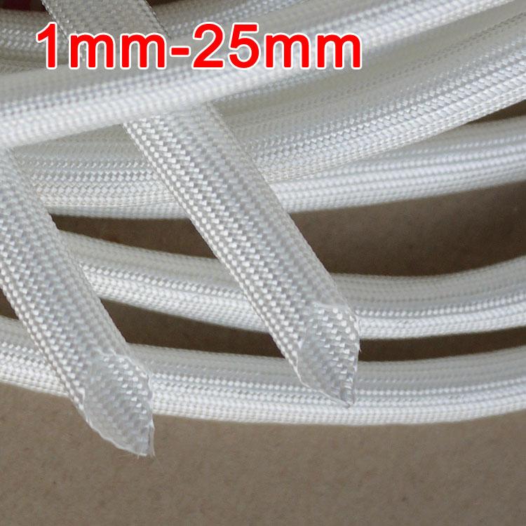 1mm 600 Deg.C High Temperature Braided Soft Fiberglass Sleeving Fiber Glass Tube