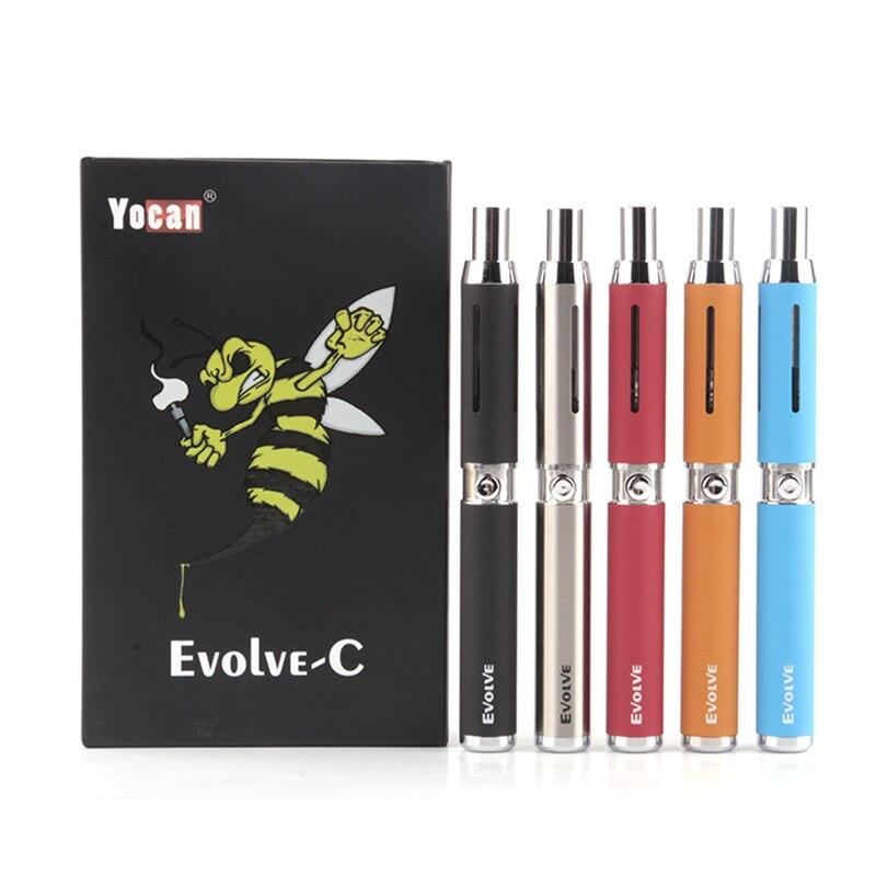 Yocan Evolve-C mod 650 mah Eingebaute batterie quarz spule für 1.8ohm Wachs 1ohm zerstäuber Trockenen Verdampfer elektronische zigarette mod