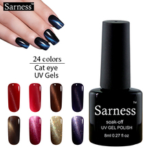 sarness lucky colors 3D Cat Eyes Gel Nail Soak-off LED UV  Color Gel Lacquer Top and Base Coat Gel Polish Nails Gel Professional