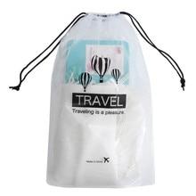Drawstring Bag Transparent PVC Waterproof Beam Pocket Travel Organizer Toiletries And Clothes Storage Bags 5 Per Pack
