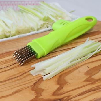 Ze stali nierdzewnej zielony krajalnica do cebuli rozdrabniacz do gałęzi, rębak do nóż do warzyw Scallion Shred pokroić narzędzie do narzędzia kuchenne gadżety lw0227444