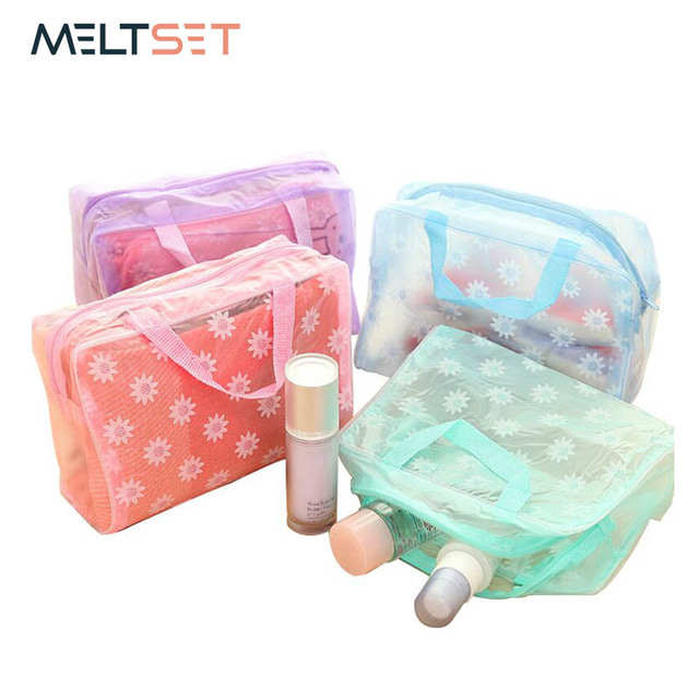 9a99c07cede5 Small Clear Bags Transparent Cosmetic Bags for Women Plastic PVC Makeup  Bags Tote Portable Travel Toiletry Pouch Men s Wash Bag