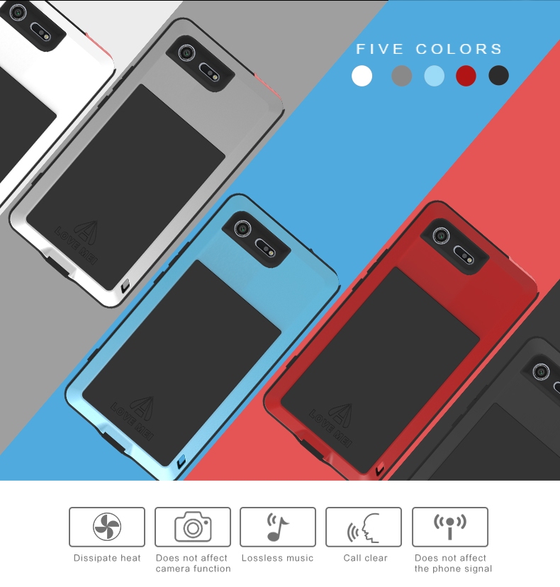 Love Mei Powerful Case For Sony Xperia XZ Premium Waterproof Shockproof Aluminum Case Cover for Xperia XZP free Tempered GlassLove Mei Powerful Case For Sony Xperia XZ Premium Waterproof Shockproof Aluminum Case Cover for Xperia XZP free Tempered Glass