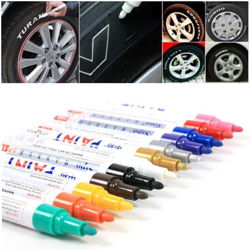 12pcs Universal Waterproof Car Motorcycle Auto Wheel Tyre Tire Paint Marker Pen Rubber Permanent