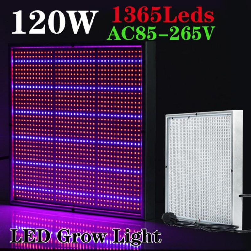 120W Chip LED Grow Light Full Spectrum Red/Blue/UV/IR For Indoor Plant 1365Leds AC85~265V LED Grow Light 90w led round grow lights light ratio 5 2 1 1 with the mixture of red blue orange white lights for indoor grow box