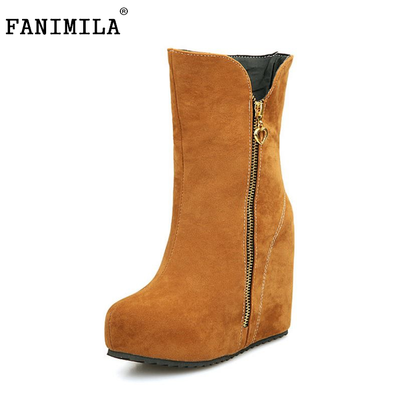 women wedge half short  boots winter snow boot cotton quality fashion round toe footwear warm botas shoes P19641 size 32-43 women real genuine leather flat ankle boots cotton snow half short bota quality warm winter boot footwear shoes r7603 size 34 40