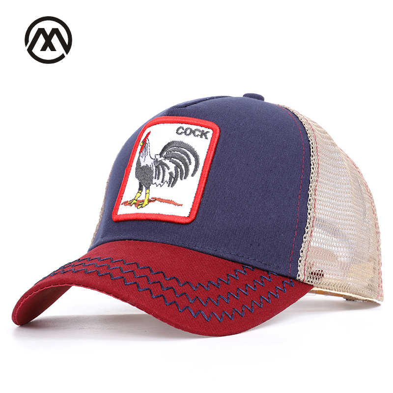 New baseball cap comfortable and breathable adjustable cock animal  embroidery men and women general work fine 4b3a35199f9