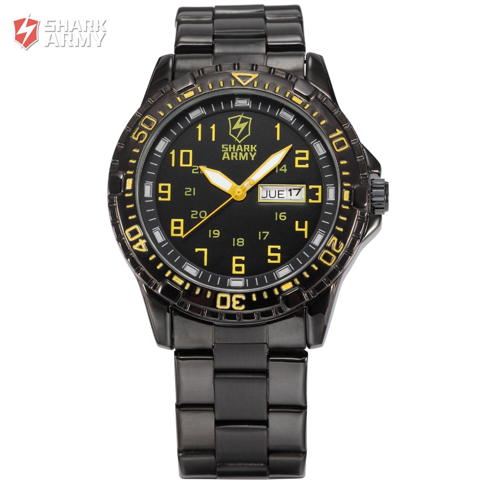 Shark Army Quartz Top Brand Analog Military male Watches Stainless Steel Strap Men Sports Army Watch Relogio Masculino/ SAW092 luxury men brand watches montre stainless steel strap quartz watch reloj hombre military sports male clock relogio masculino