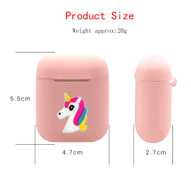 Cartoon Bluetooth Wireless Earphone Case For Apple AirPods TPU Silicone Charging Headphones Cases for Airpods Protective Cover 5