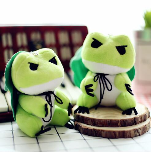 10pcs/lot Kawaii Travel Frog Plush Dolls Game Cartoon Frogs Pendants Toys Keychains Mini Doll Kids Girls Children Gift 10cm