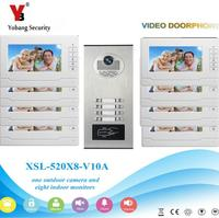Yobang Security 2 To 12 Units Apartment/Flats Video Intercom Doorbell Waterproof RFID Access Door Camera Videophone Home Kits