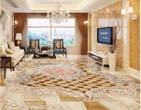 Custom Mural 3d Flooring Picture Pvc Self Adhesive European Style Angel Rose Home Decor Painting 3d