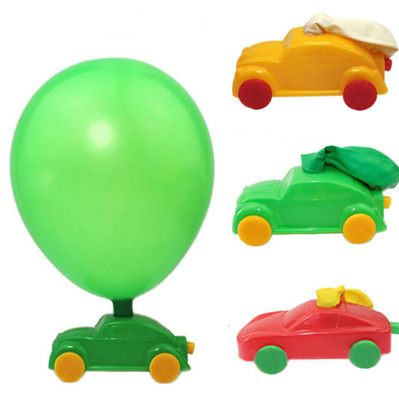 Children Gifts Aerodynamic Forces Inflatable Balloon Car Vehicle DIY Inertial Power  Project Kids Science Experiment Toys