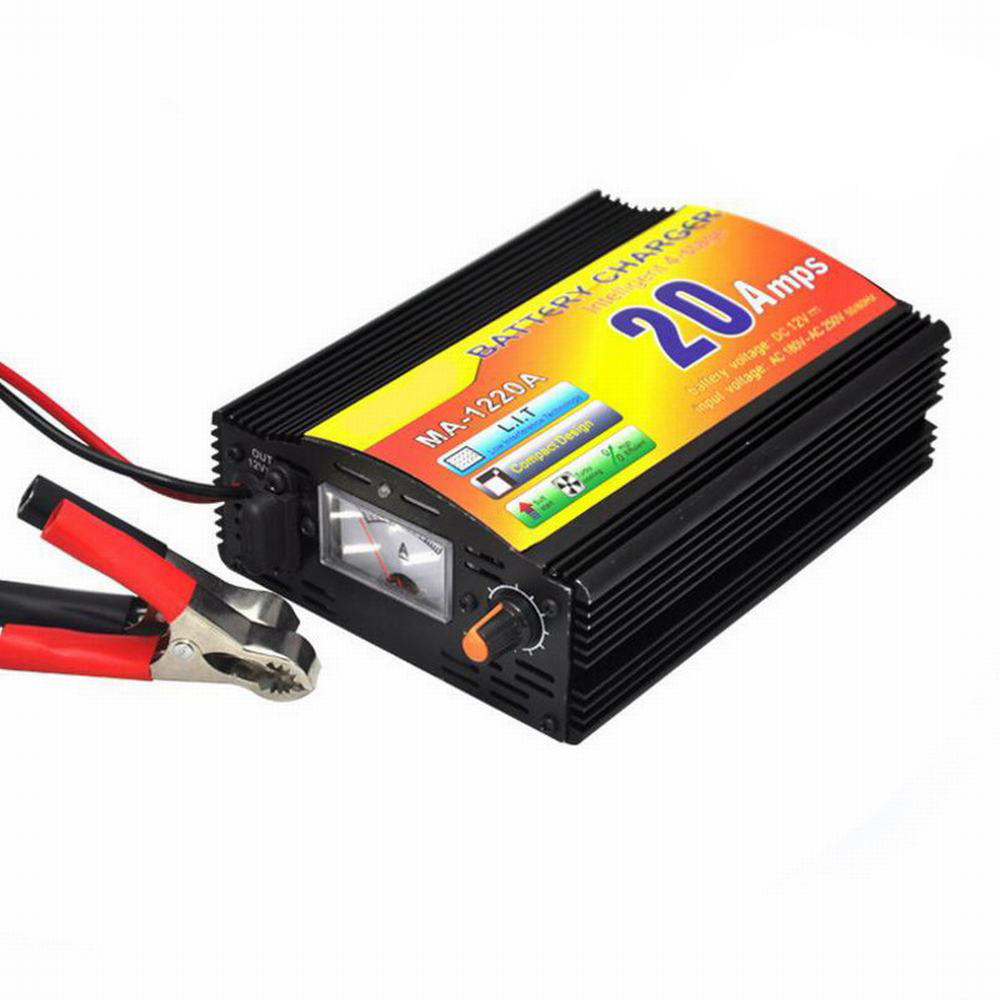 220 V 20A chargeur de voiture entrée 3 Phase 12 V chargeur de batterie de voiture intelligente chargeur de moto chargeur au plomb 12 V