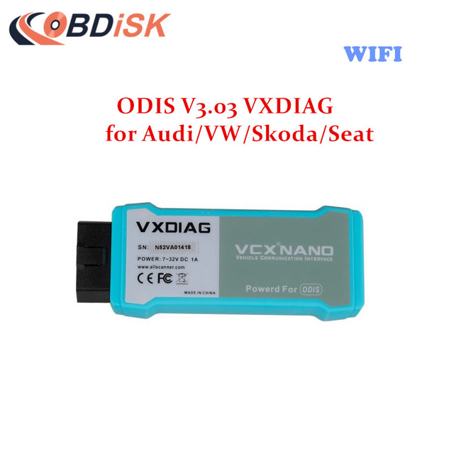WIFI Version VXDIAG VCX NANO 5054 ODIS V3.03 for Audi/VW/Skoda/Seat Support UDS Protocol Better than VAS 5054A Free Shipping