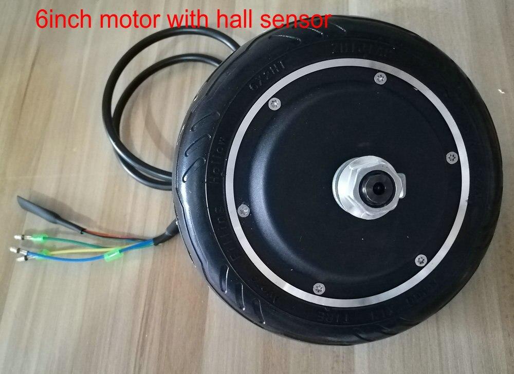 6 pouces BLDC motor & roue avec pneu pour trottinette électrique vélo pliant 24v36v48v50w-250w ebs frein et inverse permettre conversion pièces