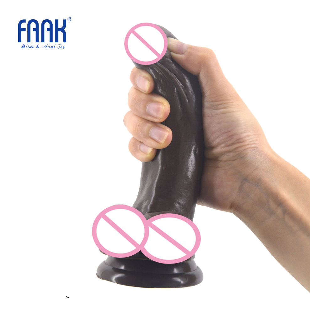 FAAK Dildo realistic penis suction cup big dick sex toys for women adult products curved fake cock flexible inside tough dildo faak 2 24big dildo with suction cup realistic dildo curved fake penis vagina stimulate sex toys for women lesbian sex shop