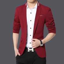 2017 Custom-made Clothes Men Casual Suit Jacket Cotton Blazer Masculino Regular Single Button Notched All-match Full Blazers