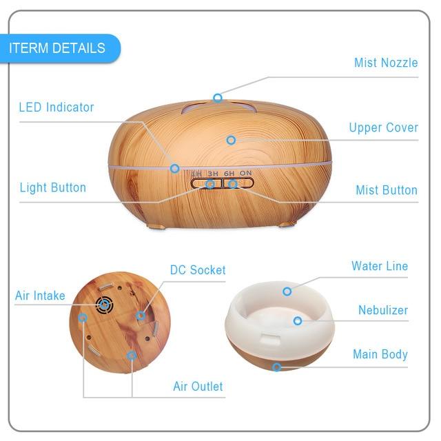 Ultrasonic Aroma Diffuser Air Humidifier  4