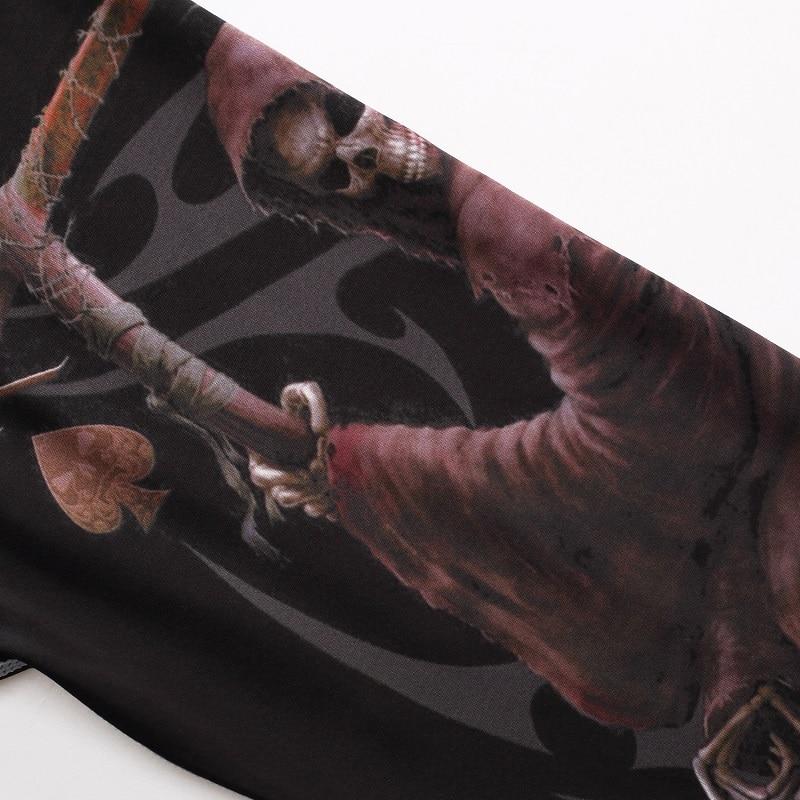 Skull Poker Majice sa kratkim rukavima Kompresija Sportske majice - Muška odjeća - Foto 3