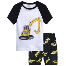 New pajamas set cotton cartoon home service childrens clothing summer suit air conditioning