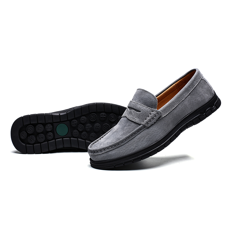 ZUNYU Men Loafers Shoes Soft Moccasins High Quality Summer Genuine Leather Flats Casual Shoes Gommino Driving Shoes Size 39-46