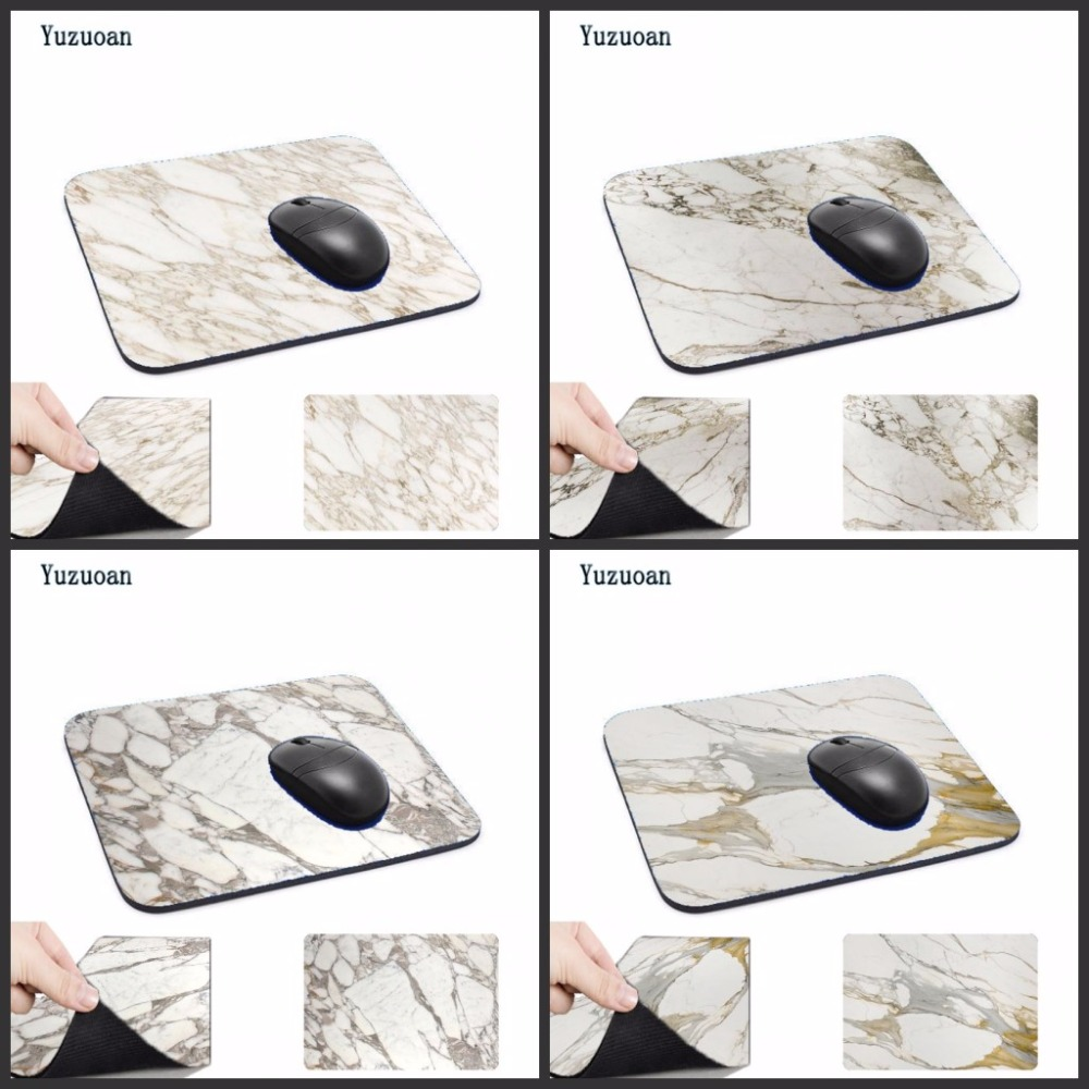 Yuzuoan Arrival Beautiful Golden marble High Speed New Mouse pad Size for 180x220x2mm and 250x290x2mm Small Desk Mousepad