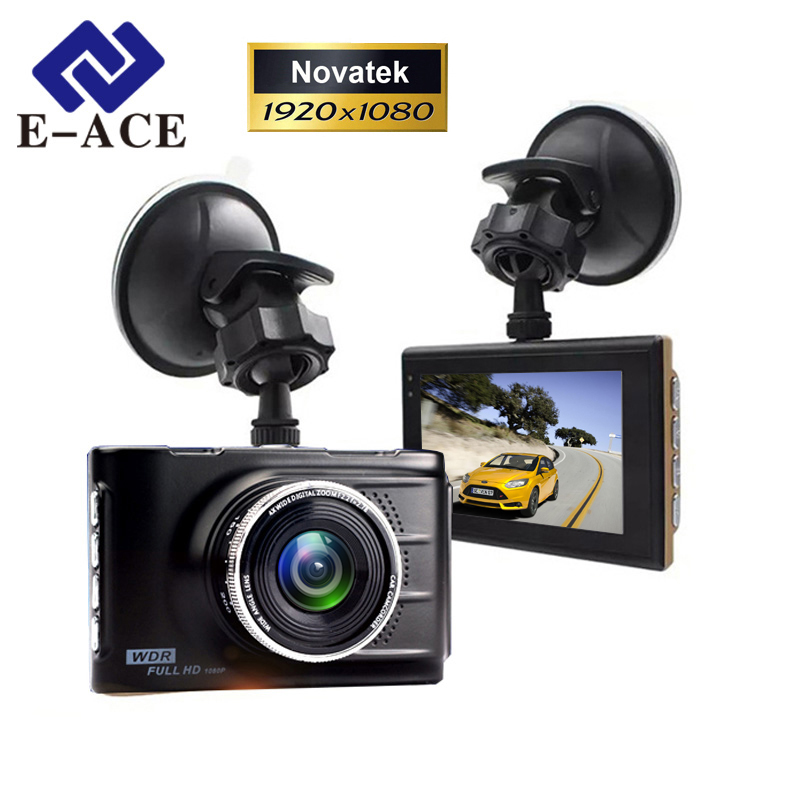 E-ACE Car DVR Original Novatek 96223 Mini Kamera Full HD 1080P Digital Video Recorder Dash Videokamera Automatisk Registrering DashCam