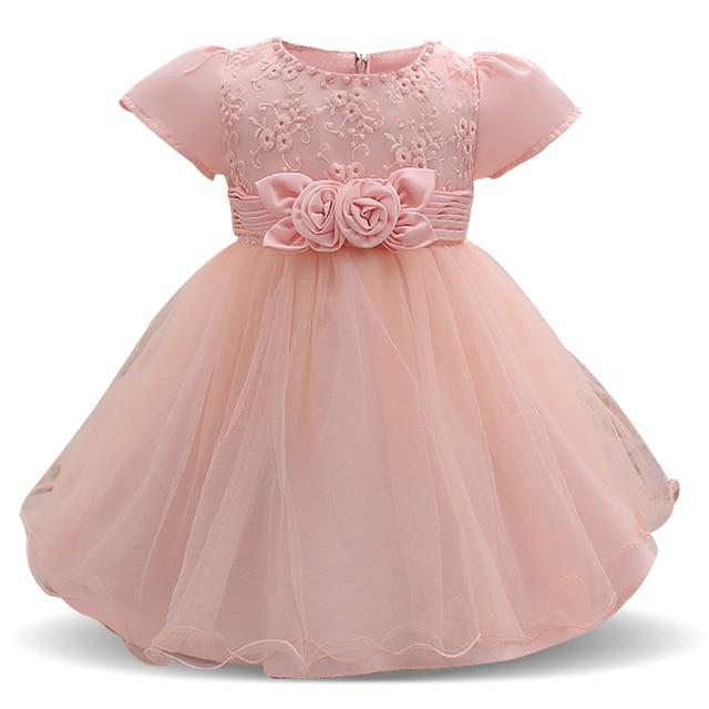 0cae267cc Newborn Baby Summer Dresses Girl Party Tutu Wedding Dress Baby Boutique  Clothing 1 2 Year Birthday Dress Infant Christening Gown