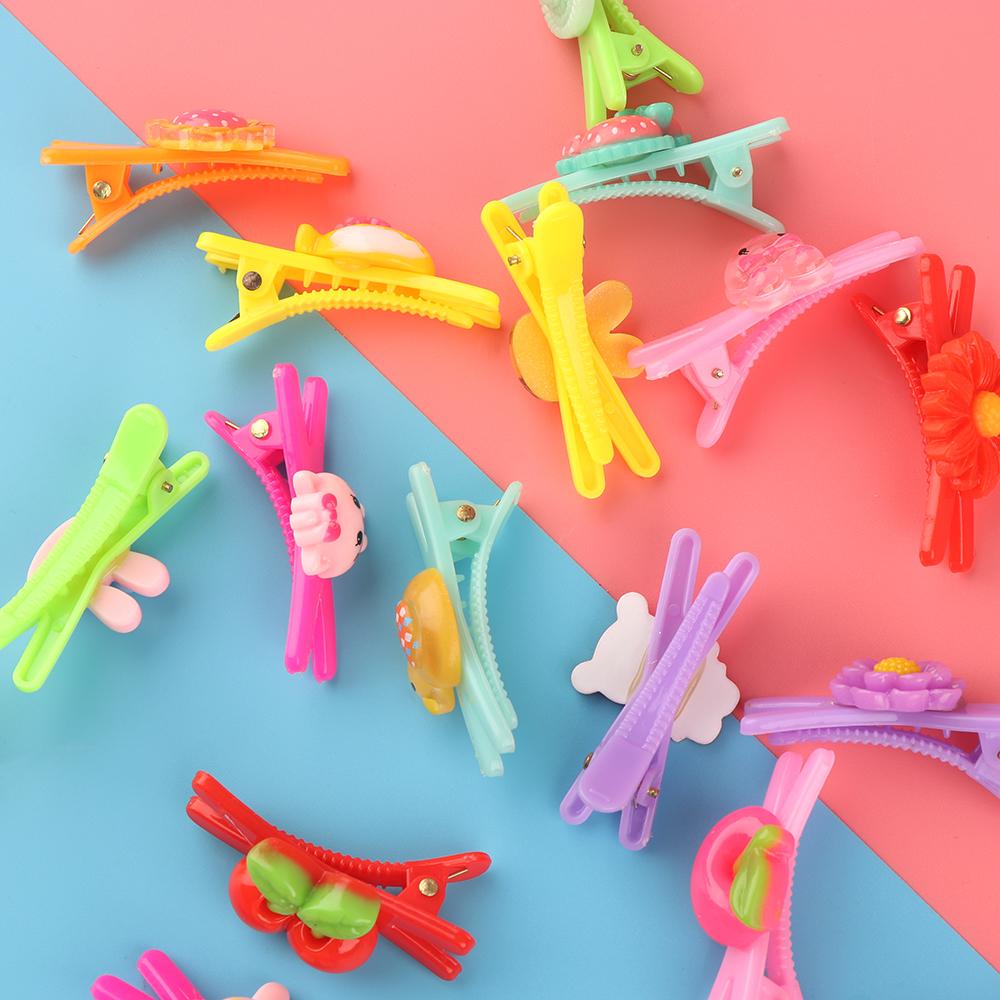 HTB1GaZiRVXXXXcYXXXXq6xXFXXXr 12-Pieces Mix Colorful Fruit Flower Star Animal Fish Ribbon Heart Candy Hair Accessories For Girls