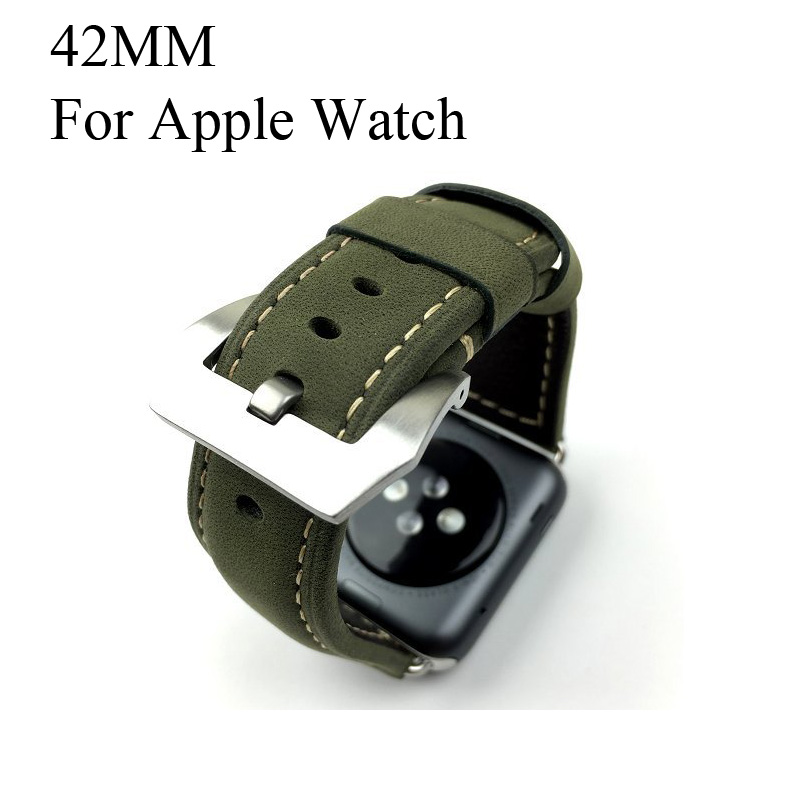 42mm Dark Green apple watchBand,Special Design Handmade leather watch strap, For Iwatch Apple watch,Free Shiping green apple green apple квадратный горшок с автополивом на колесиках 45 45 42 красный