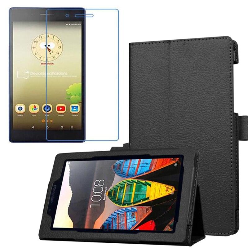 1x Écran Protecteur, luxe Folio Stand Case En Cuir Magnétique de Couverture Pour Lenovo Tab 3 7.0 Essentiel 710F Tab3 7 TB3-710F TB3-710L