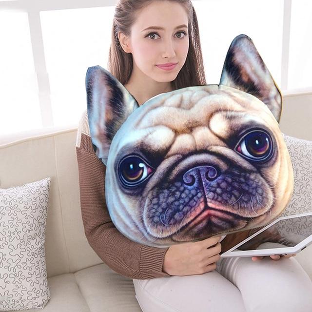 Creative Pillow Designs Ideas Cute Vivid Bulldog Shar Pei Dog Cat ...