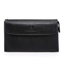 free shipping new fashion brand men's clutches male wallet envelope bag 100% genuine cow leather famous design wholesale good