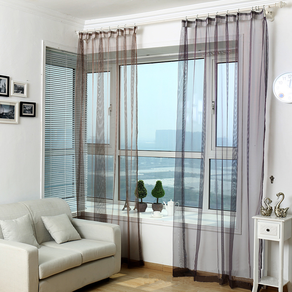living room curtains modern modern tulle window curtains for living room transparent 16188
