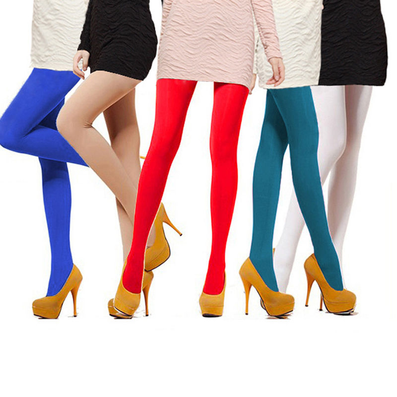 25e8e6546 Charming Women s Semi Opaque Tights Pantyhose Colors-in Tights from  Underwear   Sleepwears on Aliexpress.com