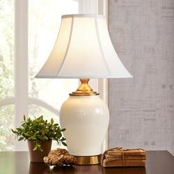 Proste nowoczesny biały pęknięcia glazury ceramiczna lampa stołowa sypialnia lampka nocna europejski styl lampy stołowe na biurko w stylu Art Deco Lampy stołowe LED    -