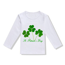 e7e11cb803a 2019 New Spring Summer Fashion For St.Patrick s Day Baby Girls Boys Long  Sleeve Clover