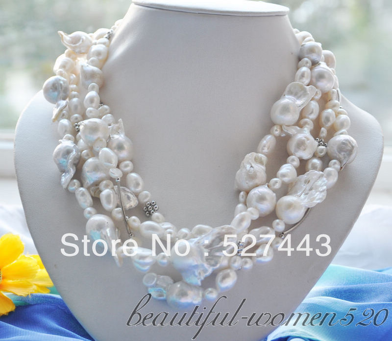 Wholesale fast LAVENDER BAROQUE chicken toe round freshwater PEARL NECKLACE NEW